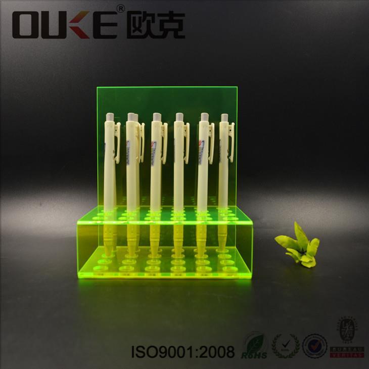绿色亚克力_亚克力绿色笔架-深圳市欧克有机玻璃制品有限公司