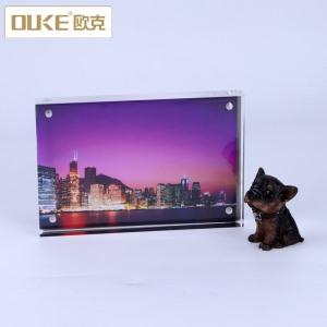 深圳有机亚虎yahu娱乐加工厂定制透明亚克力相框